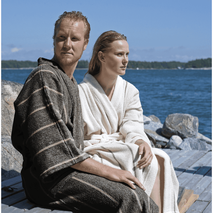 Bathrobe Linen Terry Collection LIITURAITA by Jokipiin Pellava  Sauna Robes & Dressing Gowns Finnmark Sauna