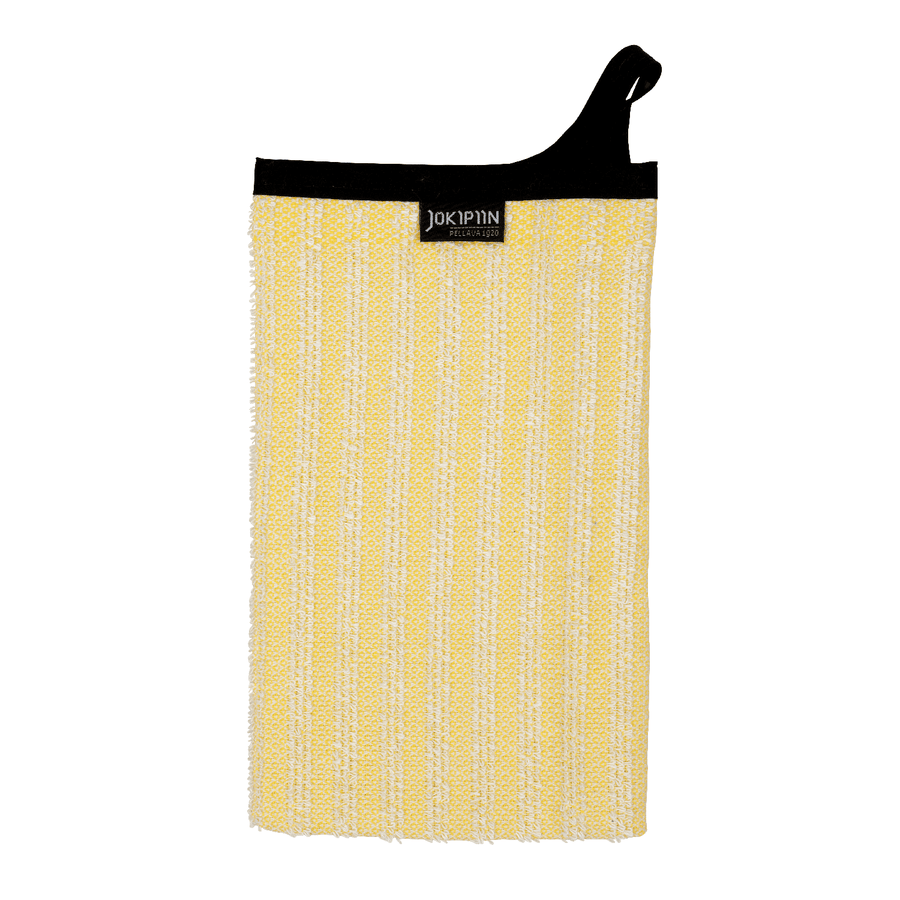 Wash Mitten NAAVA collection by Jokipiin Pellava Yellow Wash Mitten Finnmark Sauna