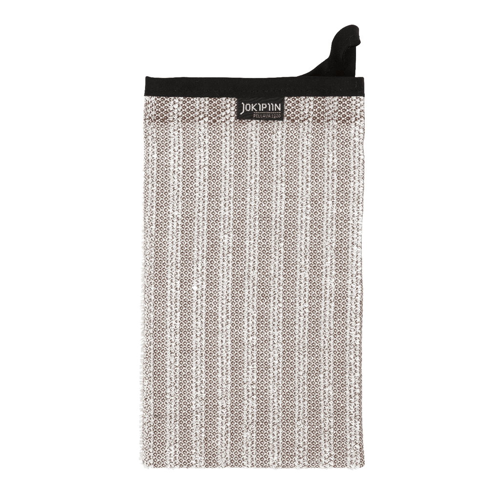 Wash Mitten NAAVA collection by Jokipiin Pellava Brown