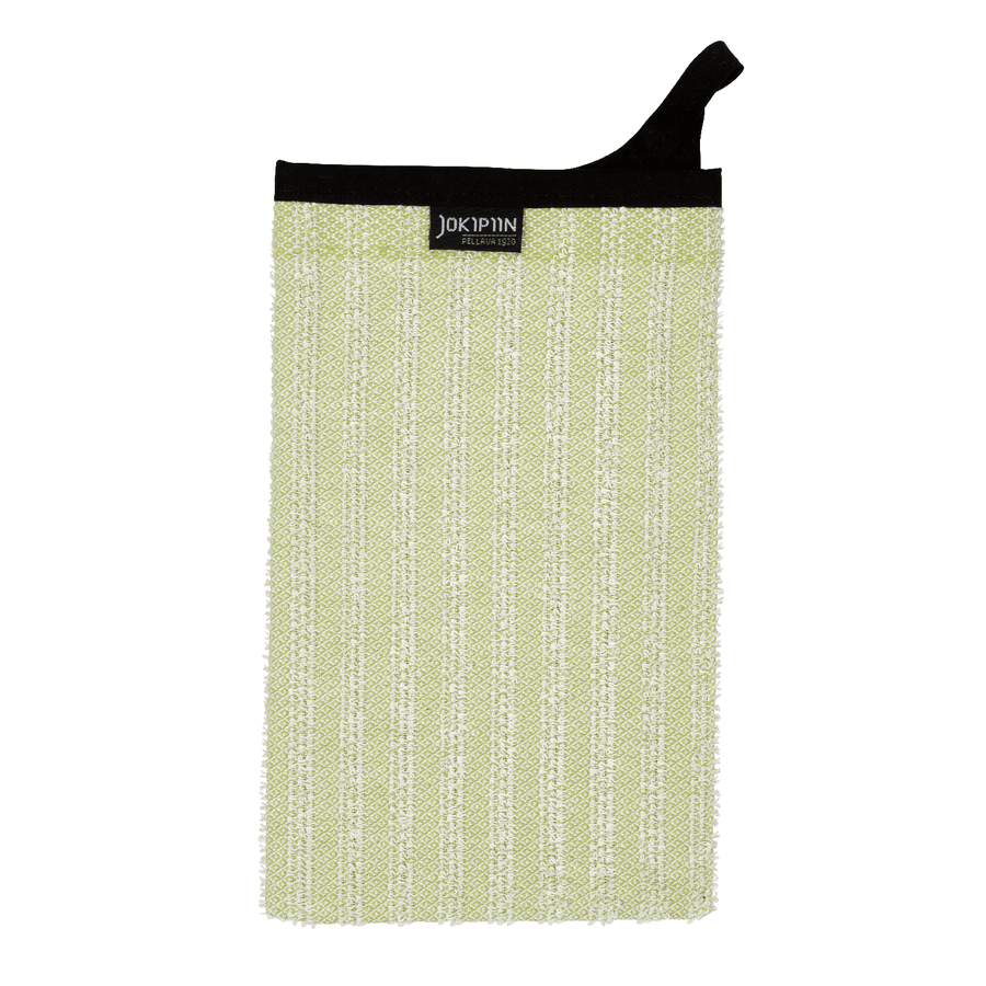 Wash Mitten NAAVA collection by Jokipiin Pellava Light Green Wash Mitten Finnmark Sauna