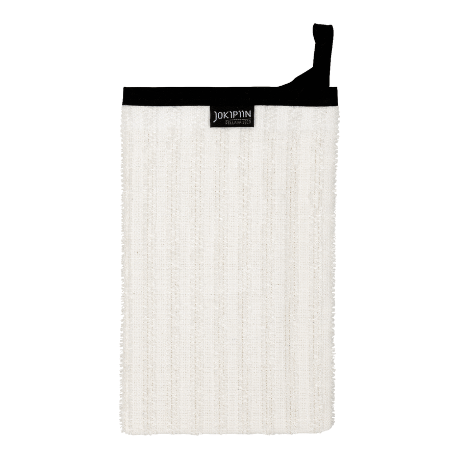 Wash Mitten NAAVA collection by Jokipiin Pellava White Wash Mitten Finnmark Sauna
