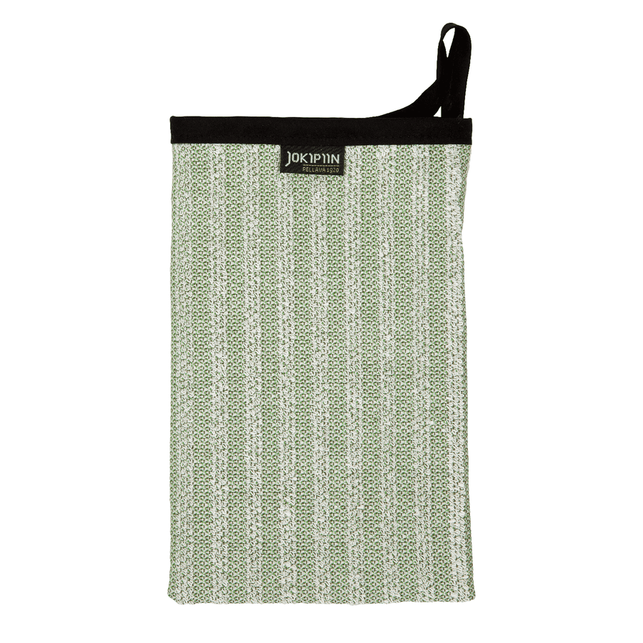 Wash Mitten NAAVA collection by Jokipiin Pellava Green Wash Mitten Finnmark Sauna