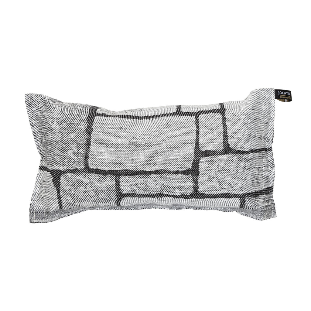 Sauna Pillow Kivetys by Jokipiin Pellava White/Black  Sauna Pillow Finnmark Sauna