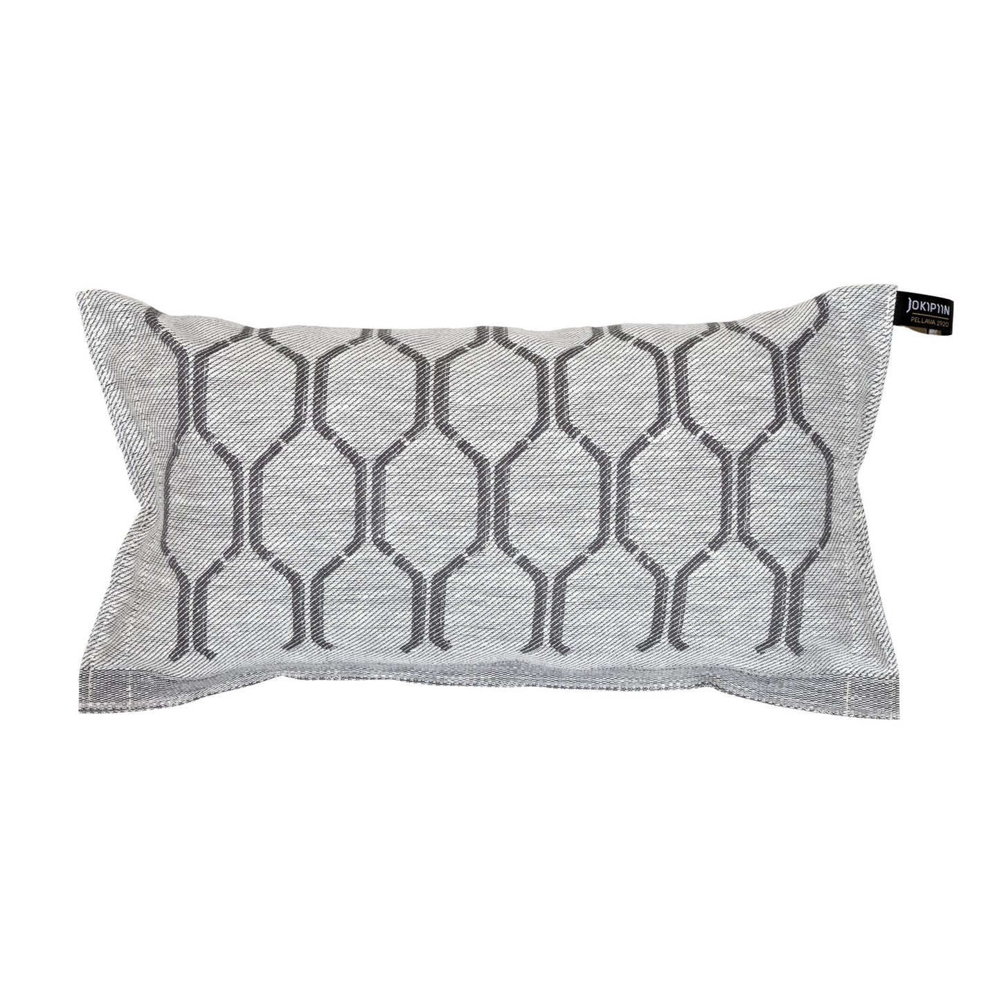 Sauna Pillow Nimikko Collection by Jokipiin Pellava White/Dark Grey  Sauna Pillow Finnmark Sauna