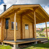 Load image into Gallery viewer, Outdoor Garden Sauna Cabin 19B Koikero Gluelam Log - 88mm x 170mm Outdoor/Garden Sauna Cabin Finnmark Sauna