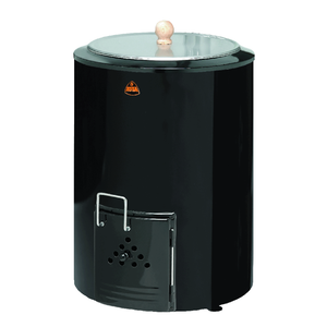 Kota 80 Litre Wood Burning Sauna Water Heater Black Wood Burning Cauldron Finnmark Sauna