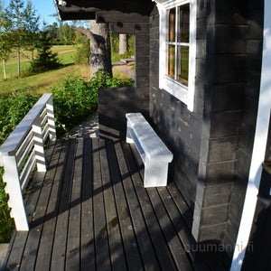 Outdoor/Garden Sauna Cabin 11H Saarinen by Puumanni deck