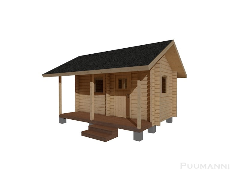 Outdoor/Garden Sauna Cabin 16S Kumpunen by Puumanni Natural Wood Log Cabin