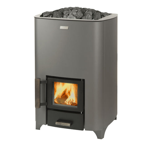 Narvi NC 20 Graphite Grey Paint Wood Burning Sauna Heater Stove