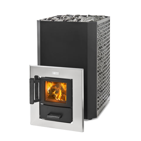 Narvi Stony 20 Tunnel Black Wood Burning Sauna Heater Stove