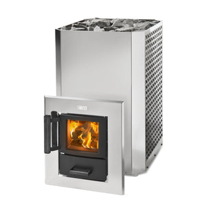 Narvi Stony 20 Tunnel Model Wood Burning Sauna Heater in Stainless Steel | Finnmark