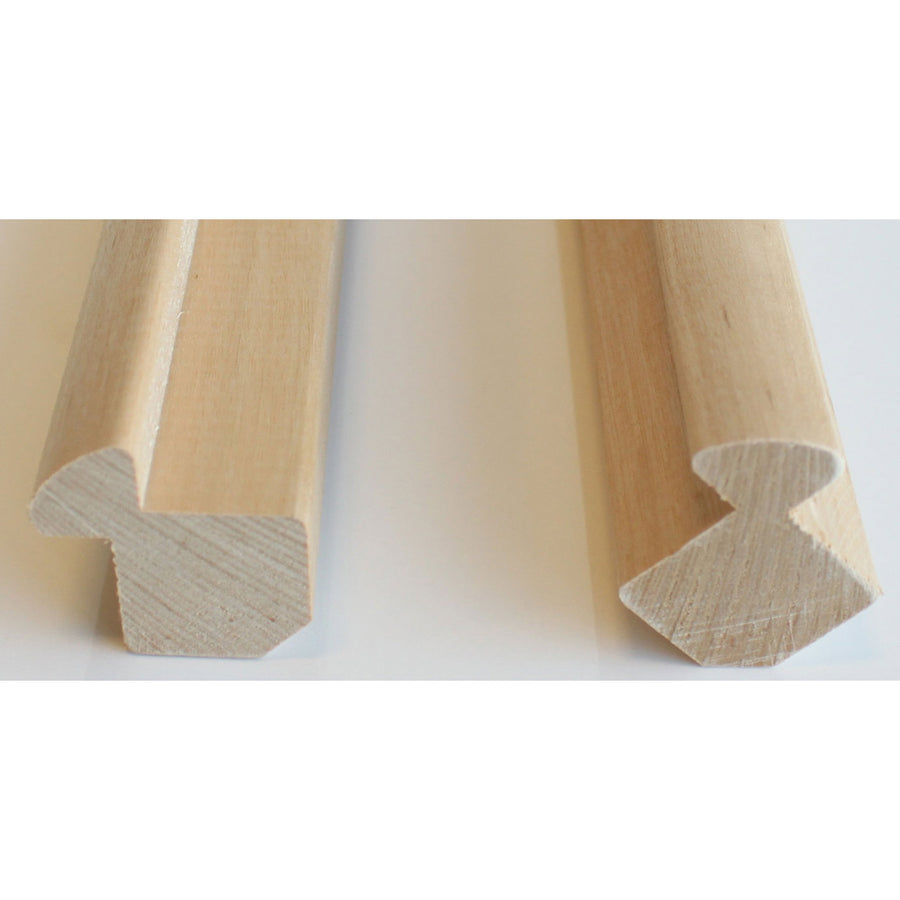 Alder Internal Corner Molding 27x27 for 15mm cladding (Pack of 4)  Sauna Timber Finnmark Sauna