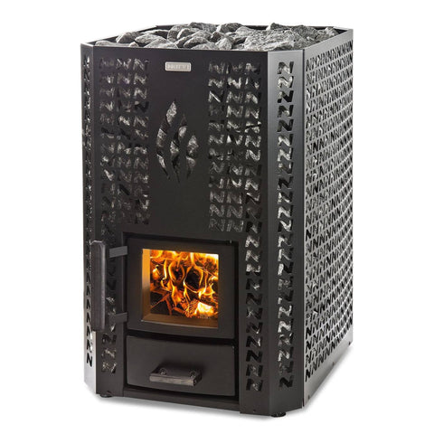 Narvi Stony 20 Painted Black Wood Burning Sauna Heater Stove