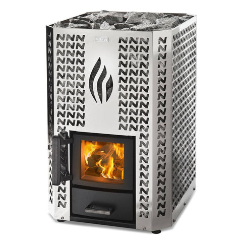 Narvi Stony 20 Stainless Steel Wood Burning Sauna Heater Stove