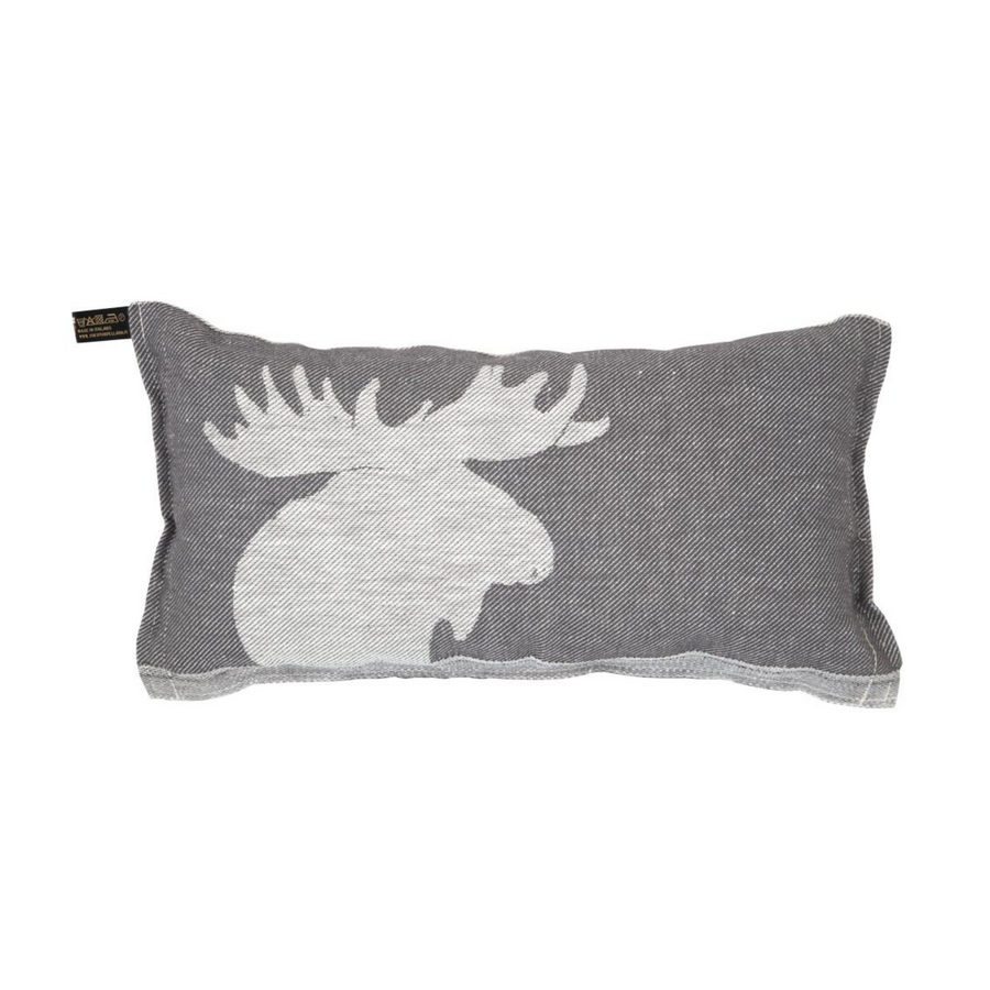 Kaiku Sauna Pillow White/Grey by Jokipiin Pellava  Sauna Pillow Finnmark Sauna