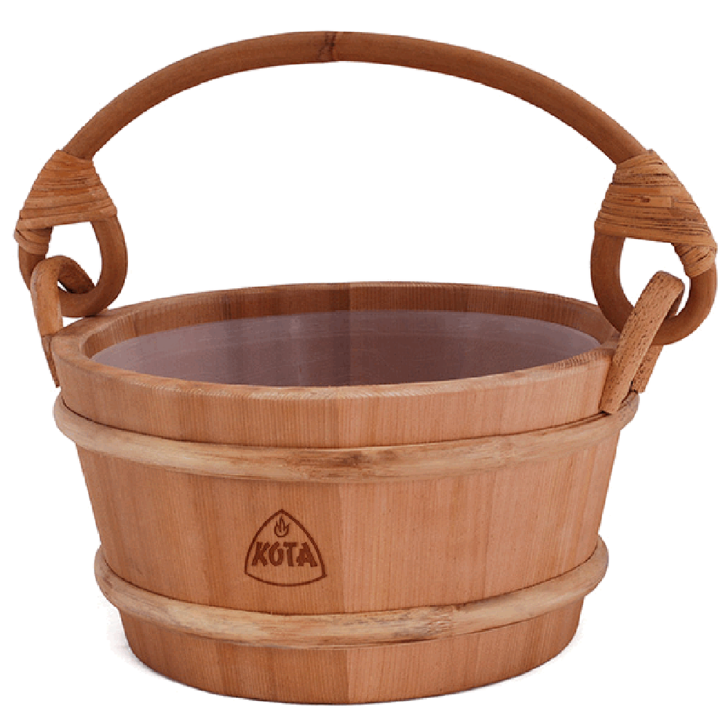 Kota Wooden Sauna Bucket/Pail with handle made from Cedar wood