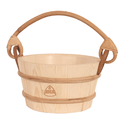 Kota Wooden Sauna Bucket/Pail with handle made from Pine wood