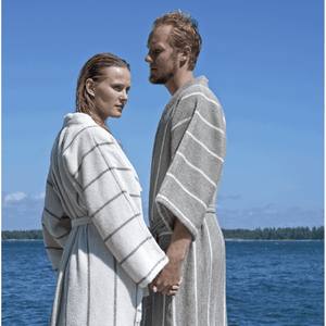 Bathrobe Linen Terry Collection LIITURAITA by Jokipiin Pellava White & Natural
