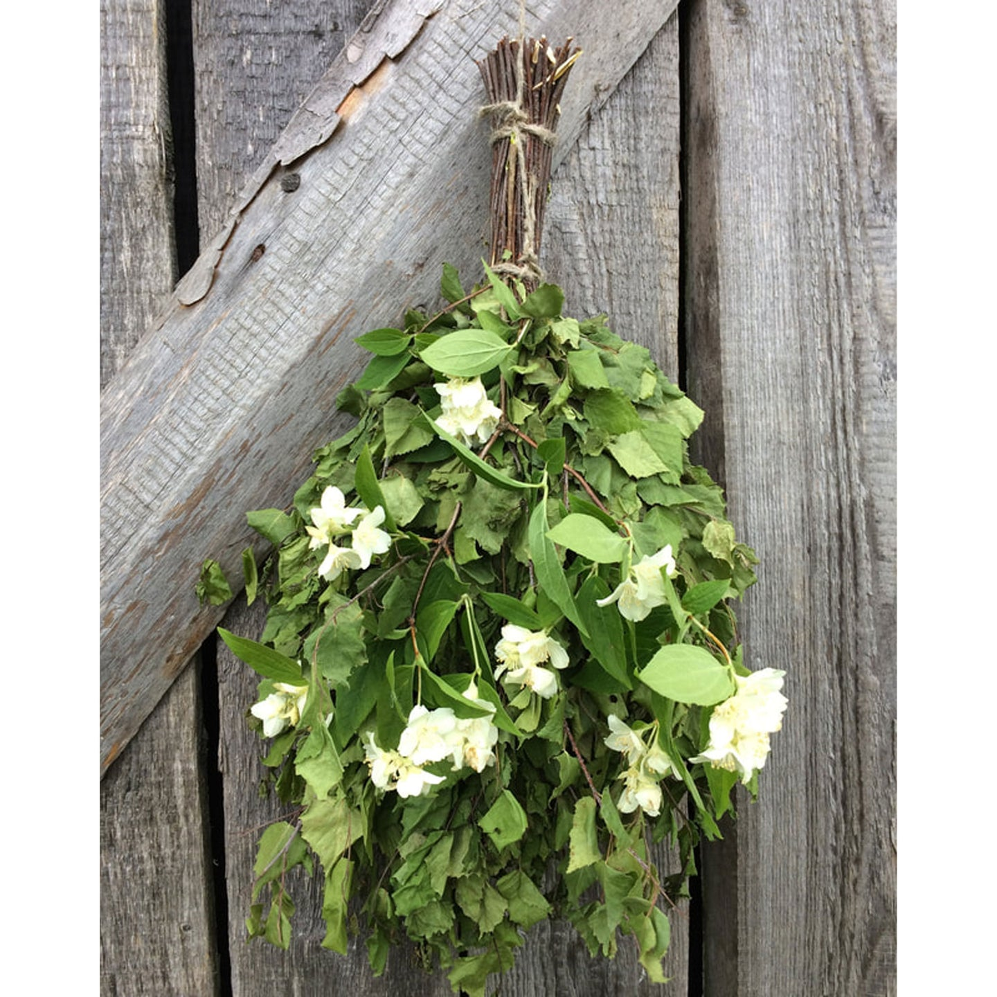 Dried Hand Made Sauna Whisk / Sauna Vihta - Birch & Jasmine  Sauna Whisks / Sauna Vihta Finnmark Sauna