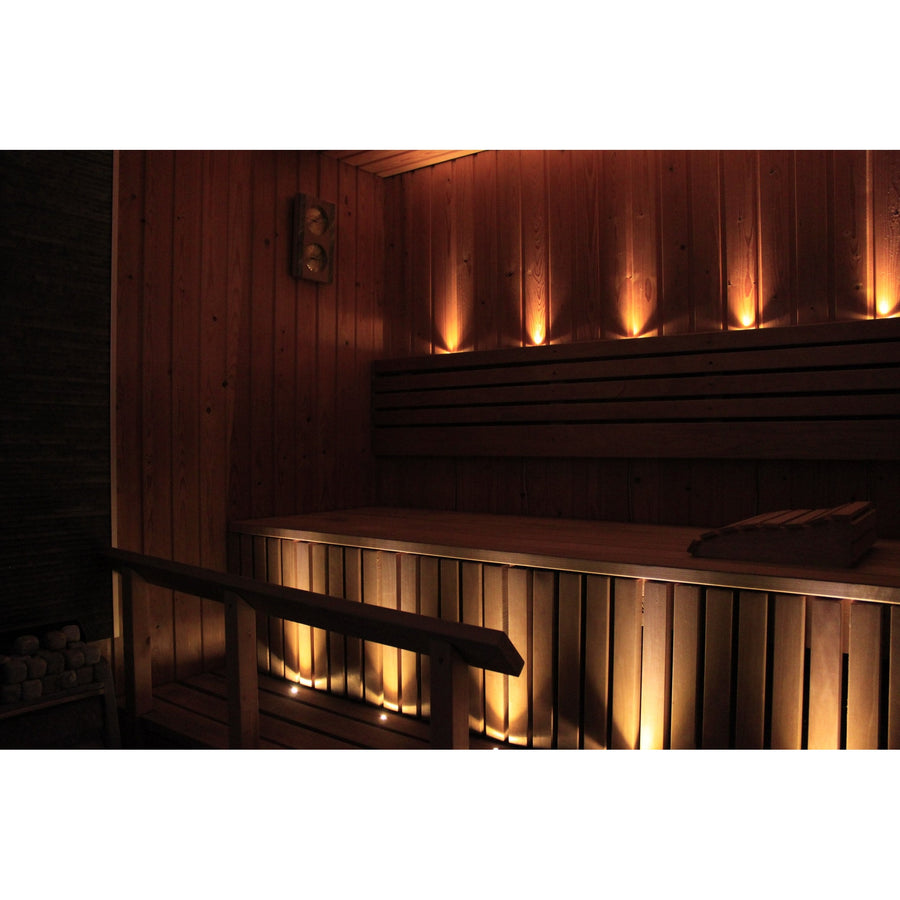SaunaLED sauna lighting system - Sauna Safe  Sauna Light Finnmark Sauna