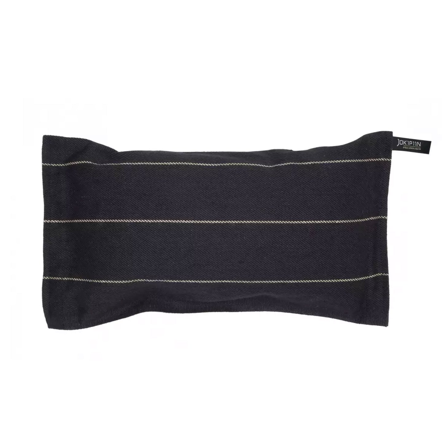 Liituraita Sauna Pillow black by Jokipiin Pellava  Sauna Pillow Finnmark Sauna