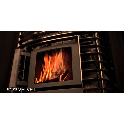 Narvi Velvet 20 Black Wood Burning Sauna Heater Stove