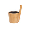 Load image into Gallery viewer, Rento Bamboo Duo Sauna Bucket Pail 5 Litre Black Sauna Bucket/Pail Finnmark Sauna