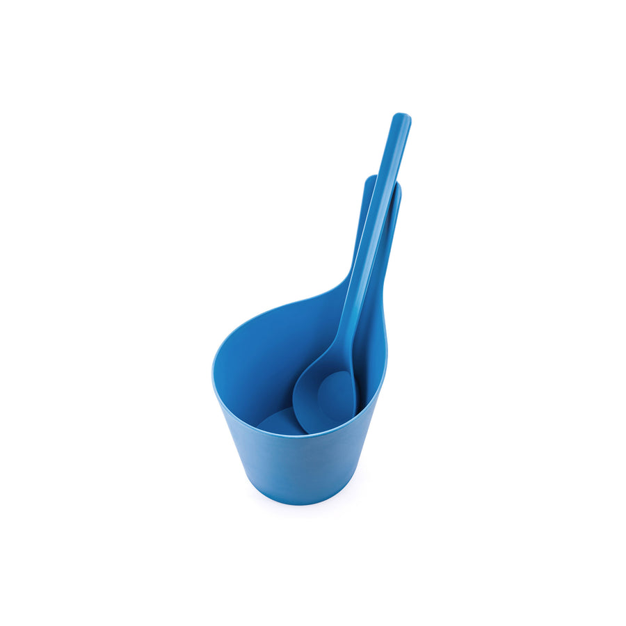 Rento Pisara Sauna Set Bucket and Ladle ICE BLUE Sauna Accessories Set Finnmark Sauna