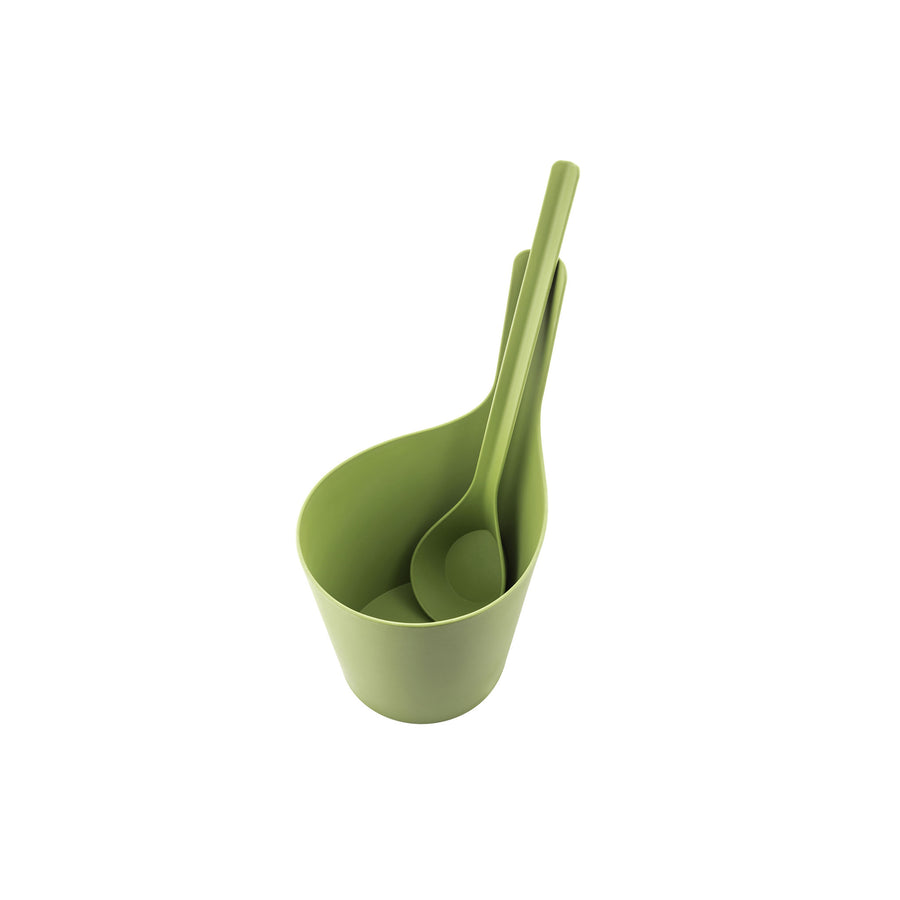 Rento Pisara Sauna Set Bucket and Ladle MOSS Sauna Accessories Set Finnmark Sauna