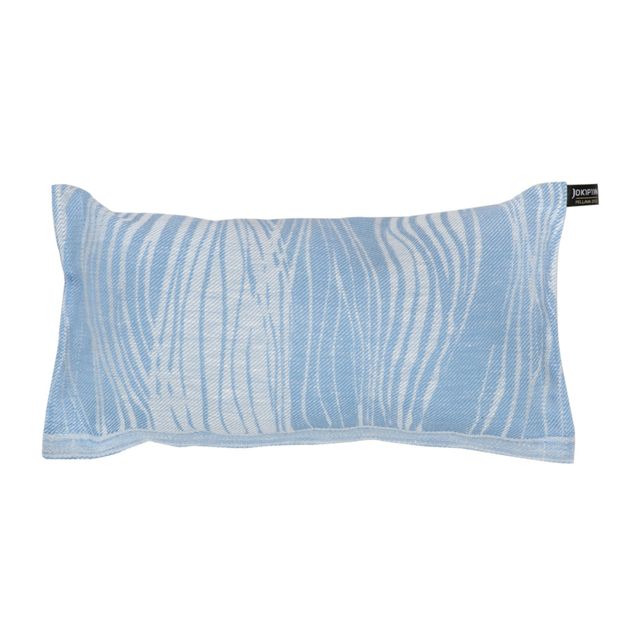 Sauna Pillow Virta by Jokipiin Pellava White / Light Blue  Sauna Pillow Finnmark Sauna