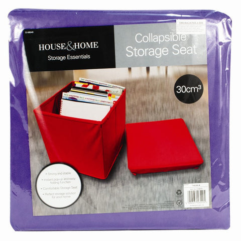 Collapsible Storage Seat