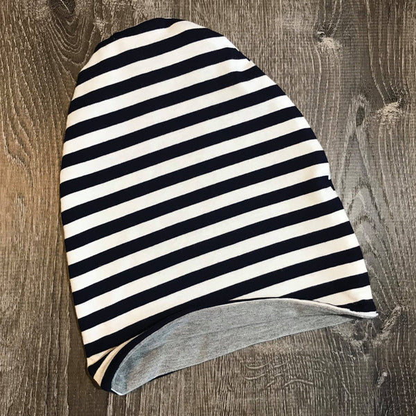 Black Stripe & Light Grey  Beanie