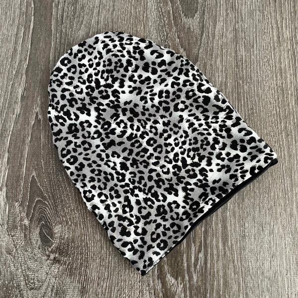 "Cheetah & Black Liner "" All Bamboo"" Beanie"
