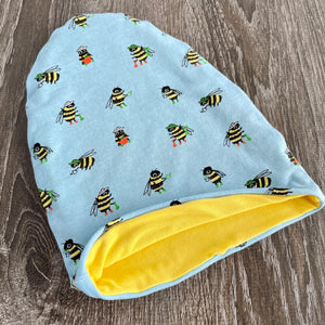 Busy Bees & Black or Yellow Liner Beanie