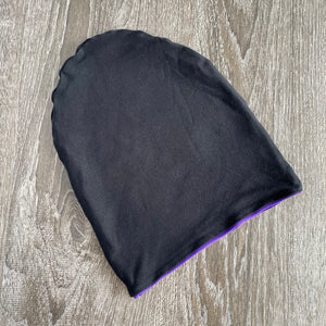 "Black & Violet Liner ""All Bamboo"" Beanie"