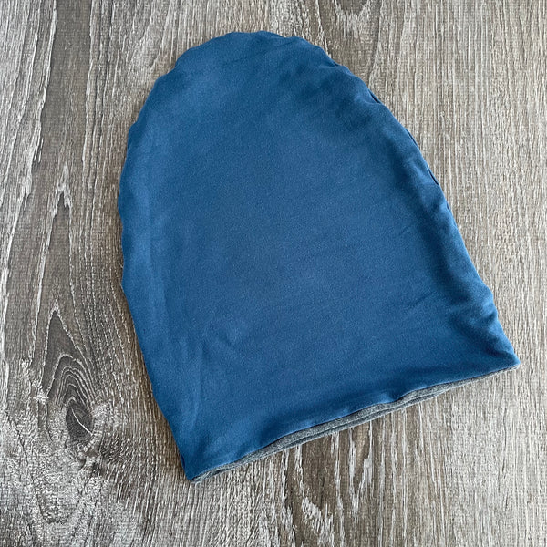 "Denim & Dark Grey ""All Bamboo"" Liner Beanie"