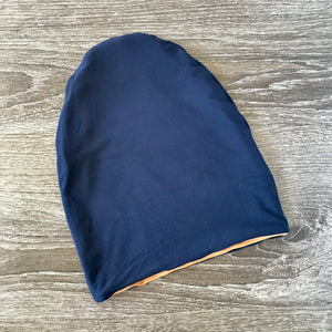"Caramell & Navy Liner ""All Bamboo"" Beanie"