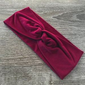 Bordeaux Twist Headband