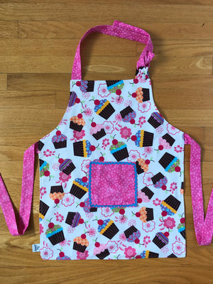Cupcake & Blue Trim Children's Aprons