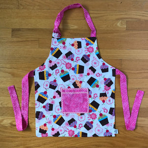 Cupcake & Pink Trim Children's Aprons