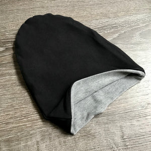 "Black & Light Grey Liner ""All Bamboo"" Beanie"