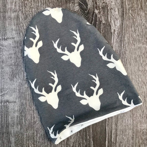 Dark Grey Buck & Grey Cross Liner Beanie
