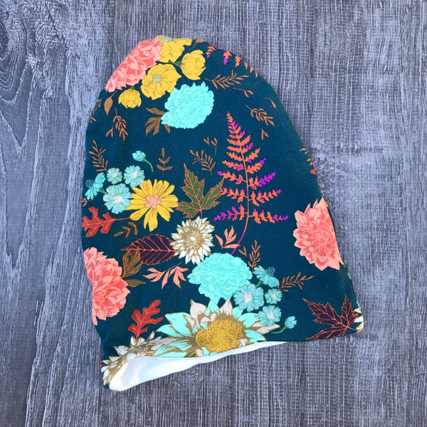 Floral Glow & Ivory Liner Beanie