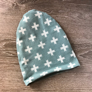 Green Cross & Grey Liner Beanie