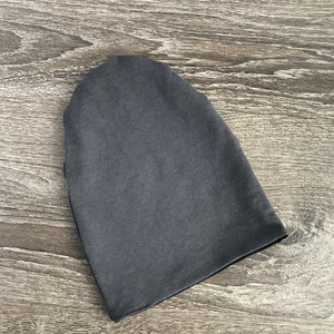 "Black & Dark Grey Liner ""All Bamboo"" Beanie"