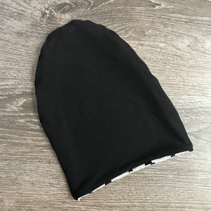 "Little Black Cat & Black Liner ""All Bamboo"" Beanie"