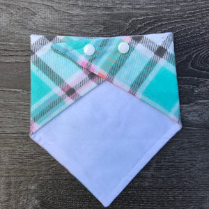 Teal Plaid Flannel - Dribbler Lite