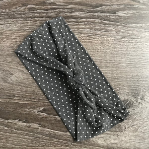 Dark Grey Dotty 3-in-1 Topknot™