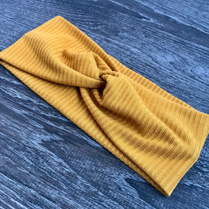 Mustard Ribbed Twist Headband