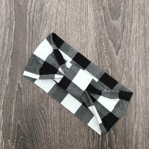 Black Buffalo Plaid 3-in-1 Topknot™